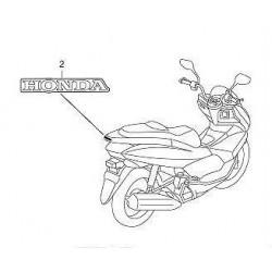 Autocollant Arrière Honda...